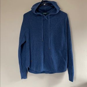Hooded Lauren Ralph Lauren Blue Henley Sweatshirt